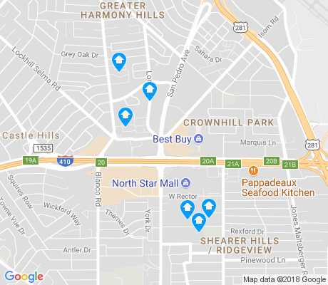 map of Uptown Loop apartments for rent