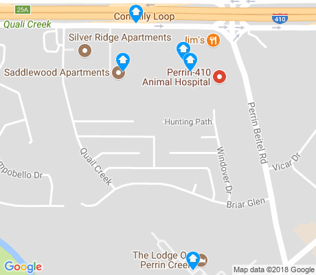 map of Village North apartments for rent