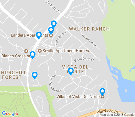 map of Vista Del Norte apartments for rent