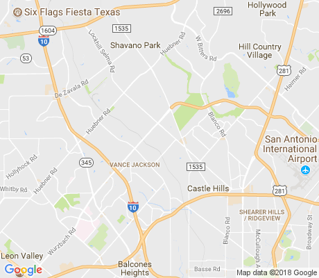 map of Whispering Oaks apartments for rent