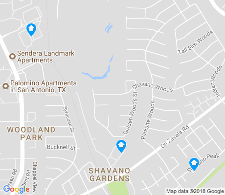 map of Woods of Shavano apartments for rent