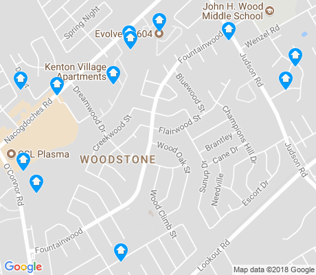 map of Woodstone apartments for rent
