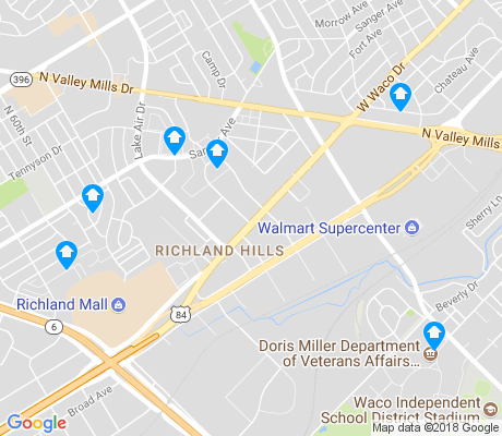 map of Richland Hills apartments for rent