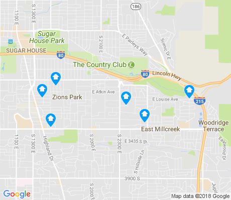 map of Canyon Rim apartments for rent
