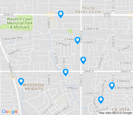 map of East Millcreek apartments for rent