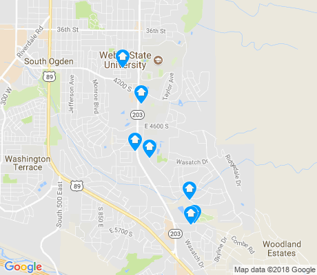 map of Southeast Ogden apartments for rent