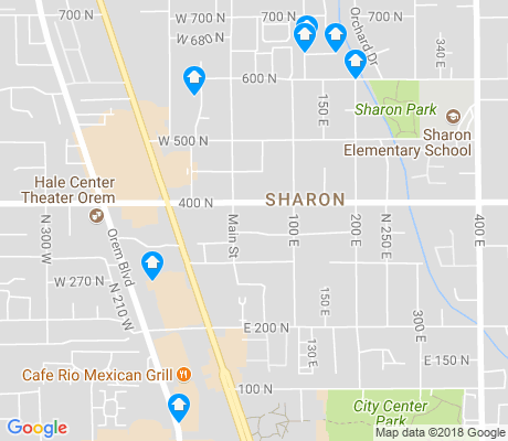 map of Sharon apartments for rent
