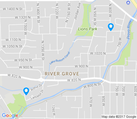 map of River Grove apartments for rent