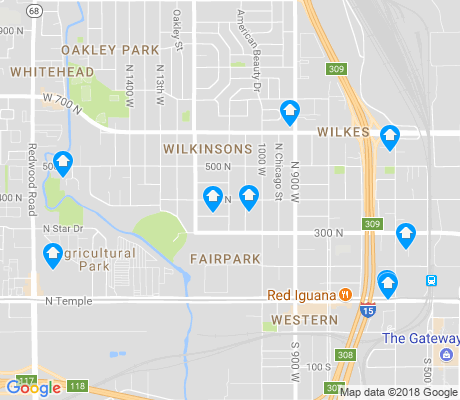 map of Fairpark apartments for rent