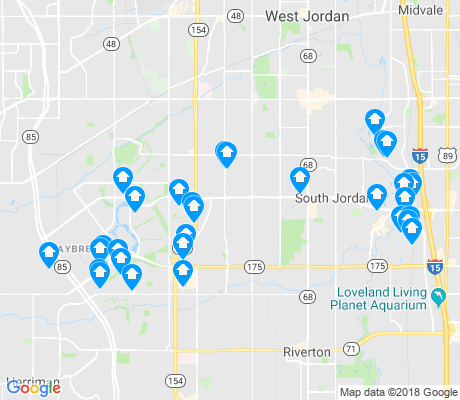 map of South Jordan apartments for rent