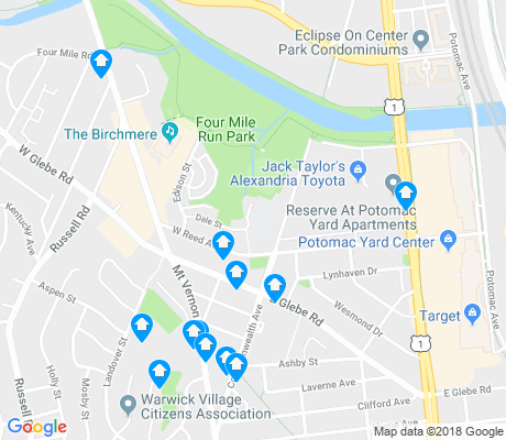 map of Arlandria apartments for rent