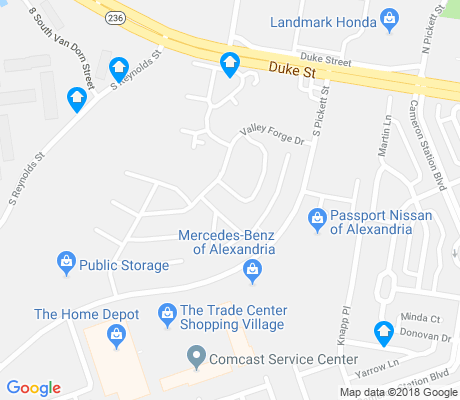 map of Cameron Station apartments for rent