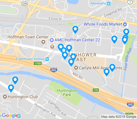 map of Eisenhower East - Carlyle District apartments for rent