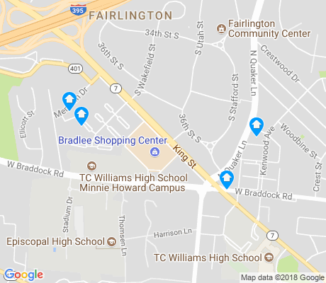 map of Fairlington apartments for rent