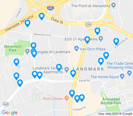 map of London Park Apartments apartments for rent