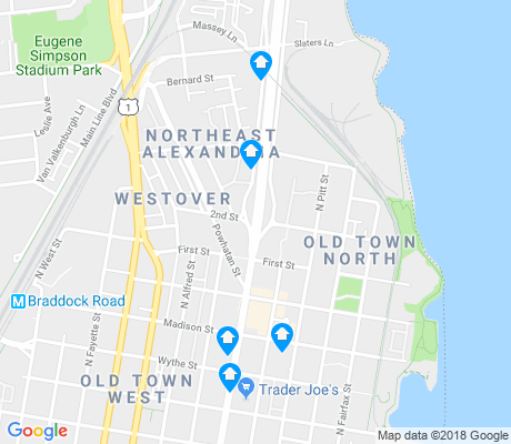map of Old Town North apartments for rent