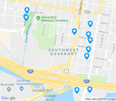 map of Southwest Quadrant apartments for rent