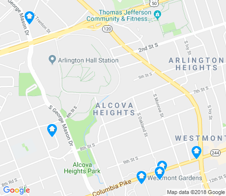 map of Alcova Heights apartments for rent