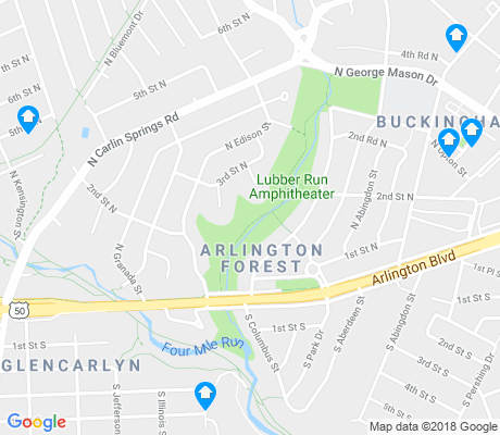 map of Arlington Forest apartments for rent