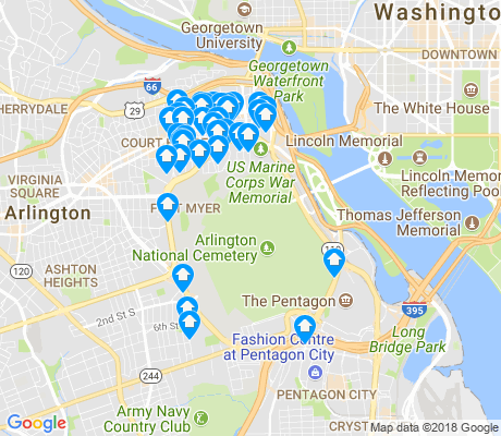 map of Arlington National Cemetary apartments for rent