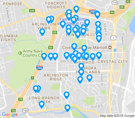 map of Arlington Ridge apartments for rent