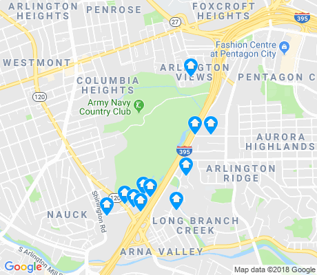 map of Army Navy Country Club apartments for rent