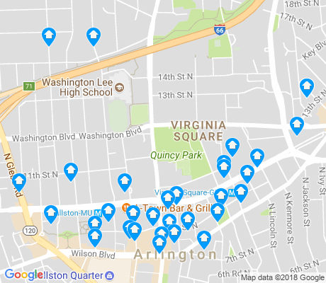 map of Ballston - Virginia Square apartments for rent