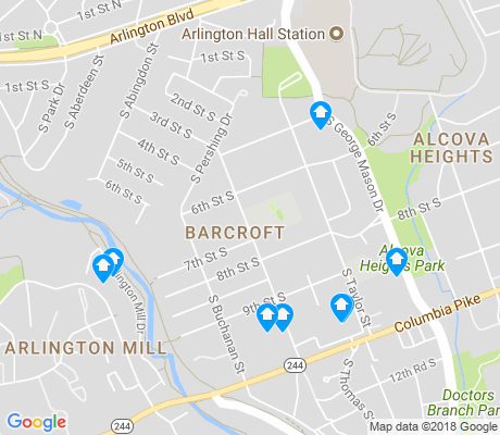 map of Barcroft apartments for rent
