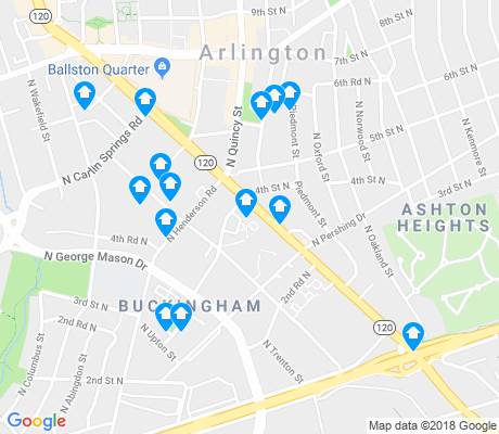 map of Buckingham apartments for rent