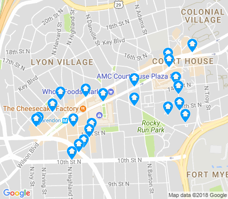 map of Clarendon - Courthouse apartments for rent
