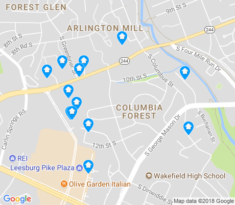 map of Columbia Forest apartments for rent