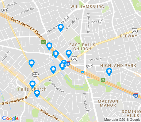 map of East Falls Church apartments for rent