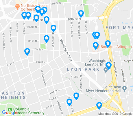 map of Lyon Park apartments for rent