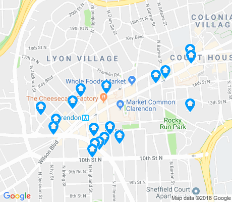 map of Lyon Village apartments for rent