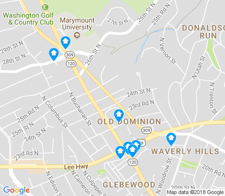 map of Old Dominion apartments for rent