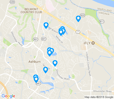 map of Ashburn Village apartments for rent