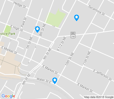 map of Martha Jefferson apartments for rent