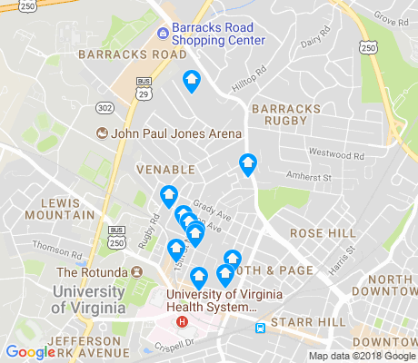 map of Venable apartments for rent