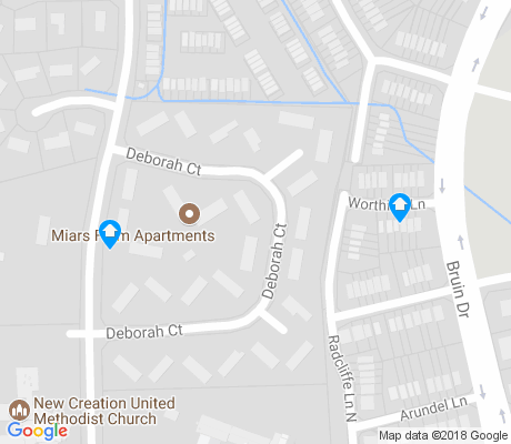 map of Miars Farm apartments for rent