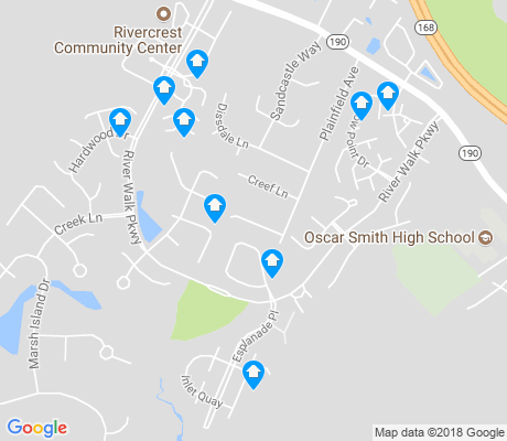 map of River Walk apartments for rent