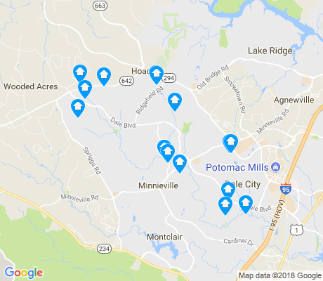 map of Dale City apartments for rent