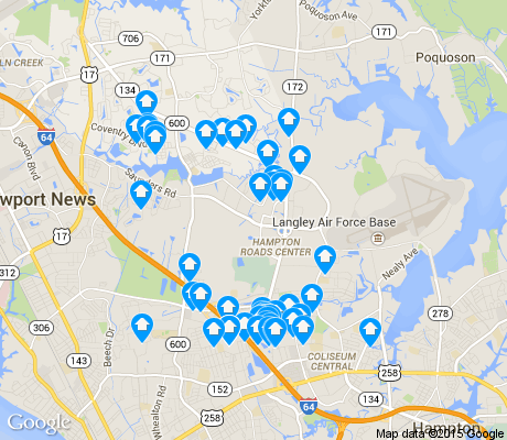 map of Magruder Area apartments for rent
