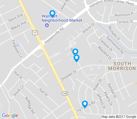 map of Ivy Farms apartments for rent