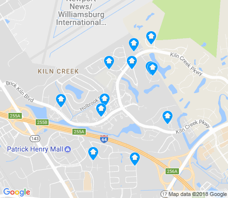 map of Kiln Creek apartments for rent