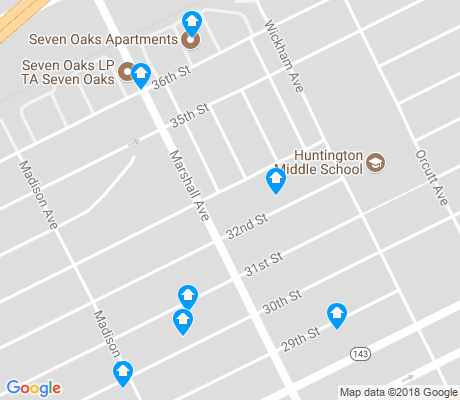 map of Marshall apartments for rent