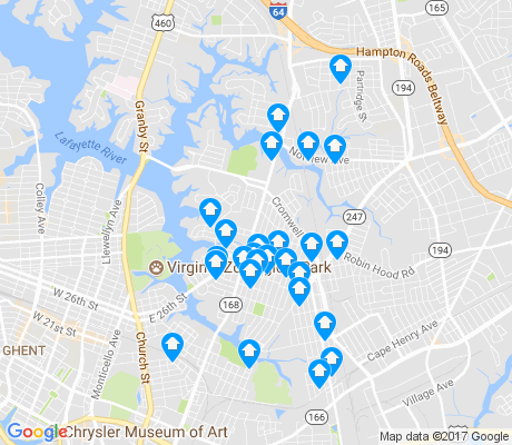 map of 23509 apartments for rent