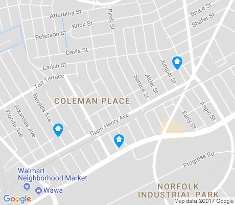 map of Coleman Place apartments for rent