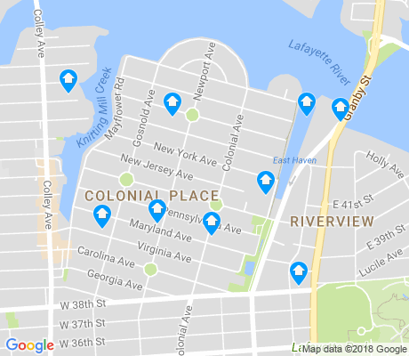 map of Colonial Place-Riverview apartments for rent