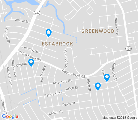 map of Estabrook apartments for rent