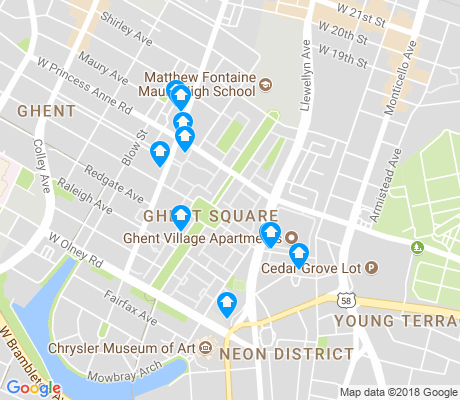 map of Ghent Square apartments for rent
